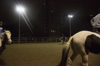 Horse riding at night