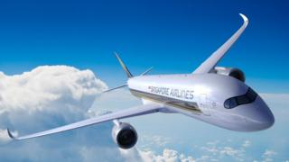 Imagem mostra aeronave da Singapore Airlines