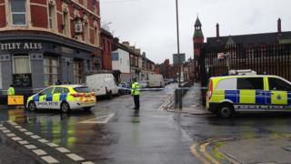 Police cordon in Anfield