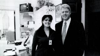 Monica Lewinsky and Bill Clinton in the White House