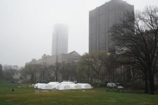 Medics will treat Covid-19 patients in Central Park, New York City