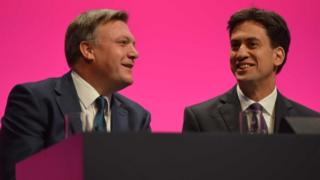 (L-R) Ed Balls and Ed Miliband
