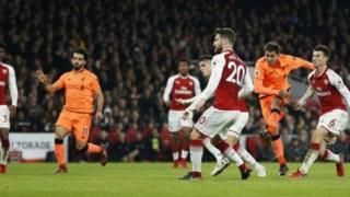 Arsenal walikuwa nyuma 2-0 baada ya Phillipe Coutinho kufunga kwa kichwa naye Mohammed Salah akaongeza bao la pili katika kipindi cha pili.