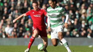 Celtic versus Aberdeen game in March