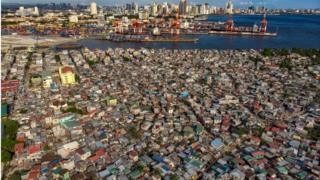 An aerial view of BASECO Compound, Manila's largest slum area.