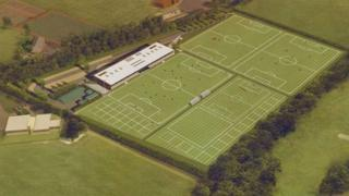 Artist's impression of new training ground