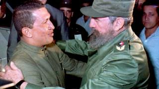 Fidel Castro y Hugo Chávez se conocieron en persona en 1994 en La Habana