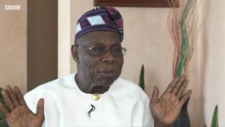 Former Nigeria president Olusegun Obasanjo