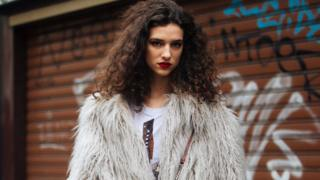 A Stella McCartney faux fur coat