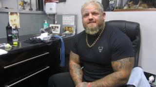 Paul Stansby at Lucky 13 tattoo parlour