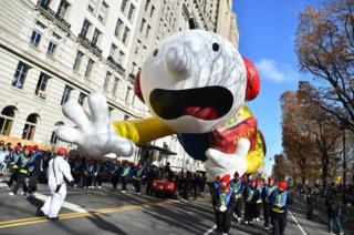 The Diary of a Wimpy Kid balloon at the Macy's Thanksgiving Parade