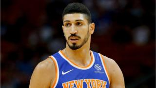 Turkish-born Enes Kanter is the centre for the New York Knicks