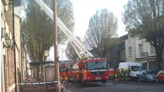 Firefighters at Clare Rd, Grangetown, Cardiff