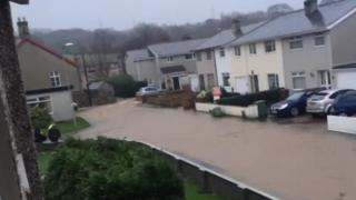 Tal-y-bont was cut off by floods over Christmas