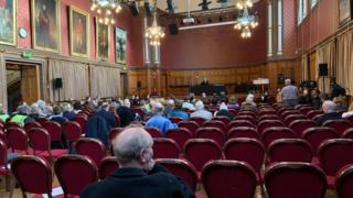 Public inquiry at Chester Town Hall
