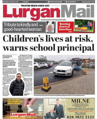 front page of the Lurgan Mail, Thursday 11 January 2018