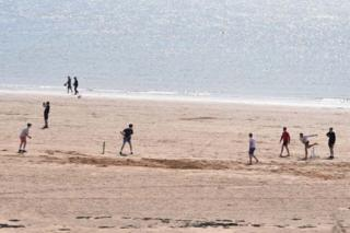 Bank Holiday Monday was the perfect day for a game of cricket on the beach at Elie in Fife. Picture taken by Morten Paterson from Kirkcaldy
