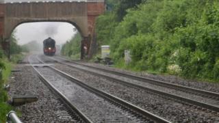 The Flying Scotsman passing through Radley