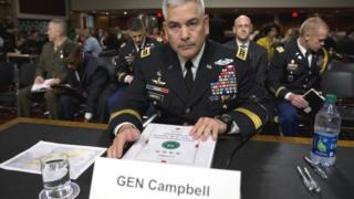 Gen John Campbell in Washington prior to testifying before the Senate Armed Services Committee (06 October 2015)
