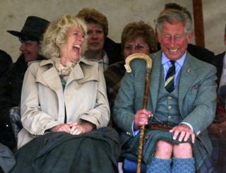 Prince of Wales and the Duchess of Cornwall at the Mey Highland games in Caithness