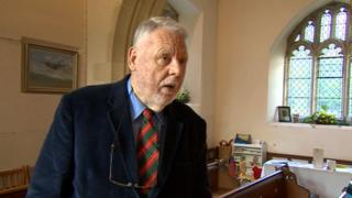 Terry Waite returned to St Michael and All Angels church in Lyneham 25 years after he was released