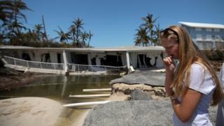 Una casa destrozada en Islamorada tras el paso del huracán Irma