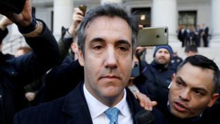 Michael Cohen outside court in New York on 29 November 2018