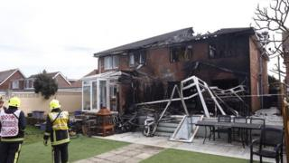 Aftermath of fire in Southwood Road