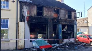The Banbridge building was destroyed in the latest arson attack
