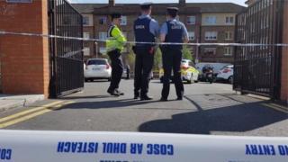 Police at scene of murder