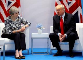 May ve Trump'ın Temmuz ayından bir fotoğrafı