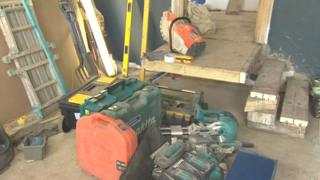 Tools in van