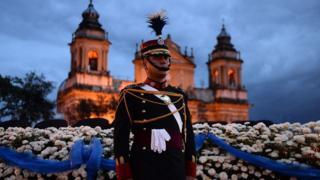 Celebración de la independencia de Guatemala.