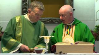 Rev McElmeel and Parish Priest Paul Byrne