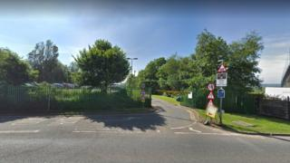 Entrance to Portway park and ride