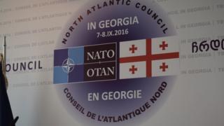 Эмблема саммита НАТО в Грузии