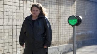 Oksana Sevastidi leaves Moscow's Lefortovo prison. Photo: 12 March 2017