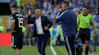 Kocha wa Argentina Jorge Sampaoli