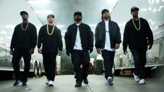 The lead actors in Straight Outta Compton