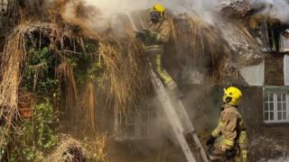 Affpuddle fire