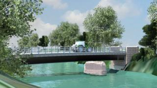 New Eastham Bridge - artist's impression
