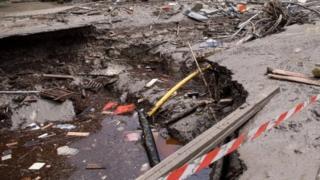 Flood debris in Simbach am Inn. Photo: 3 June 2016
