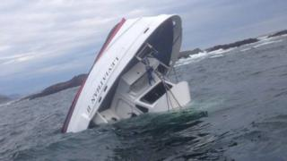 Image of Leviathan II boat that sank near Vancouver Island - 26 October 2015