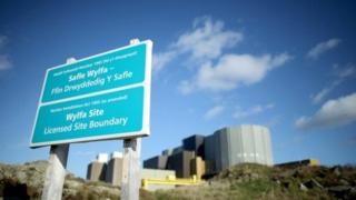 Wylfa Nuclear Power Station at Cemaes Bay, Anglesey, North Wales.