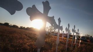 Homenagem às vítimas de ataque no Texas