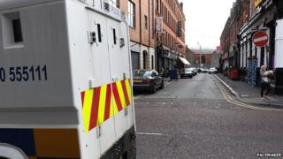 The man's body was found in the Union Street area of Belfast