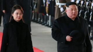 Ким Че Ын с супругой