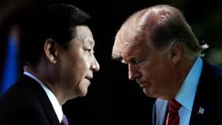 Presidente de China, Xi Jinping, y presidente de Estados Unidos, Donald Trump.