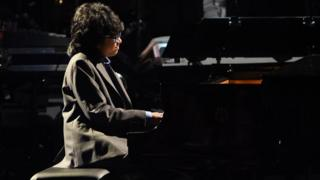 Joey Alexander performs at the 58th annual Grammy Awards