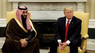 ترامب التقى ولي ولي العهد السعودية محمد بن سلمان في مارس/أذار